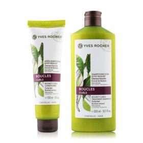 Yves Rocher  Botanical Hair Care Bouncy Curls Set 2 Items (Shampoo 300ml + Conditioner 150ml )