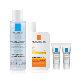 La Roche Posay Sun Protection Exclusive Set Buy 1 Get 3 Free (Anthelios XL Dry Touch 50ml + Micellar For Reactive Skin 50ml + Ef