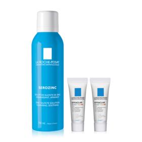 La Roche Posay Serozinc Exclusive Set Buy 1 Get 2 Free (Serozinc 150ml + Effaclar Duo+ SPF30 3ml x 2pcs)