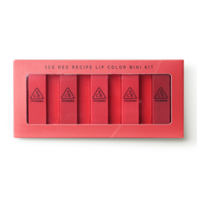 3CE Red Recipe Lip Color Mini Kit (1.3gx5pcs)