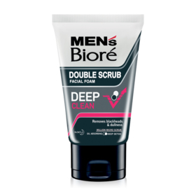 Biore Men's Double Scrub Facial Foam Deep Clean 100g