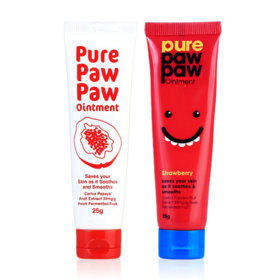 แพ็คคู่ Pure Paw Paw Ointment Strawberry 25g + Pure Paw Paw Ointment 25g