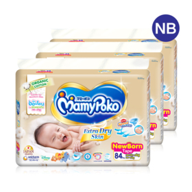 Mamy Poko Extra Dry Skin Tape 84pcs x 3packs (252pcs in box) #Newborn