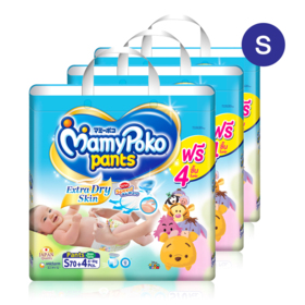 Mamy Poko Pants Extra Dry Skin Pants 70pcs x 3packs (210pcs in box) #S