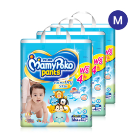 Mamy Poko Pants Extra Dry Skin Pants 64pcs x 3packs (192pcs in box)(Boy) #M