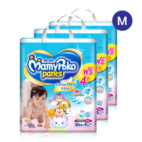 Mamy Poko Pants Extra Dry Skin Pants 64pcs x 3packs (192pcs in box)(Girl) #M