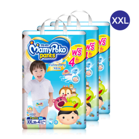 Mamy Poko Pants Extra Dry Skin Pants 38pcs x 3packs (114pcs in box)(Boy) #XXL