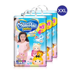 Mamy Poko Pants Extra Dry Skin Pants 38pcs x 3packs (114pcs in box)(Girl) #XXL