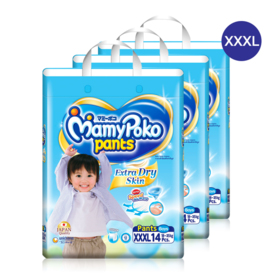 Mamy Poko Pants Extra Dry Skin Pants 14pcs x 4packs (56pcs in box)(Boy) #XXXL