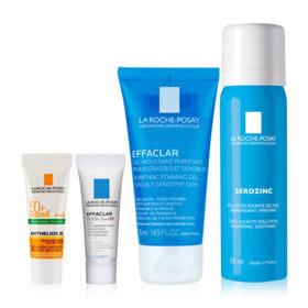 La Roche Posay Acne Care Set Buy 2 Get 2 Free (Serozinc Oil Blotting Mist 50ml + Effaclar Foaming Gel For Oily Skin 50ml Free! A