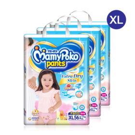 Mamy Poko Pants Extra Dry Skin Pants 56pcs x 3packs (168pcs in box)(Girl) #XL