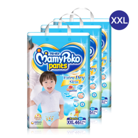 Mamy Poko Pants Extra Dry Skin Pants 46pcs x 3packs (138pcs in box)(Boy) #XXL