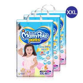 Mamy Poko Pants Extra Dry Skin Pants 46pcs x 3packs (138pcs in box)(Girl) #XXL
