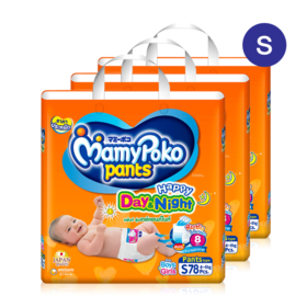 Mamy Poko Happy Pants Day & Night 78pcs x 3packs (234pcs in box) #S