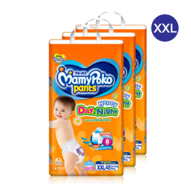 Mamy Poko Happy Pants Day & Night 48pcs x 3packs (144pcs in box)#XXL