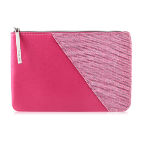 Lancome Leather Strap Small Flat Pouch  #Pink