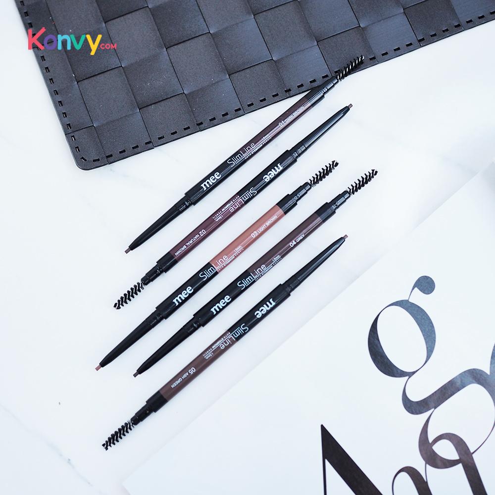 Mee Slim Line Auto Eyebrow Pencil 1.5mm. #02 Natural Brown_1