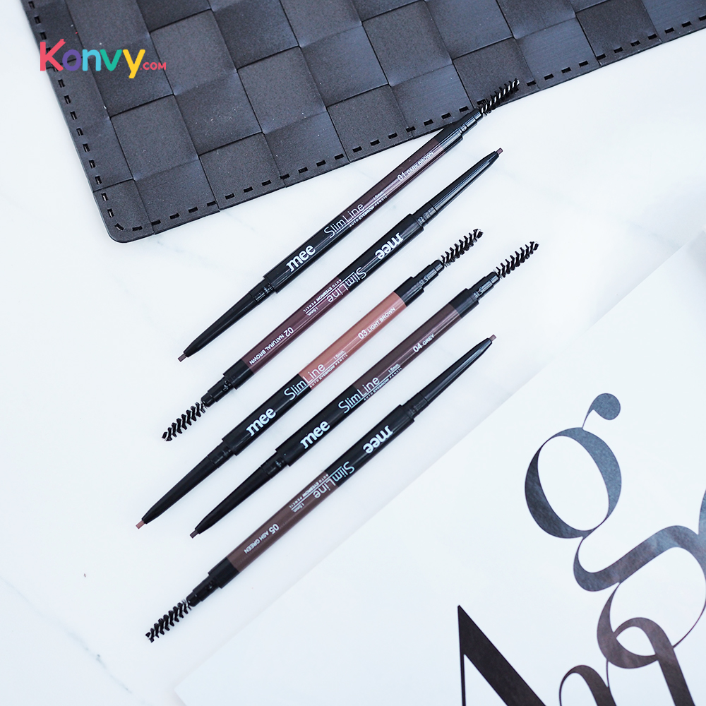Mee Slim Line Auto Eyebrow Pencil 1.5mm. #05 Ash Green_1