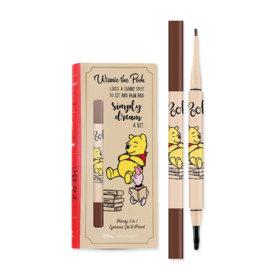 Baby Bright Disney Winnie the Pooh Honey 2in1 Eyebrow Gel & Pencil (0.8g + 0.18g) #03 Medium Brown