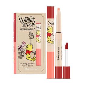 Baby Bright Disney Winnie the Pooh Duo Honey Lip Pencil & Liquid Lipstick (0.5g + 2.5g) #01 Morning Kiss