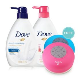 Dove Deeply Nourishing Nourishing Body Wash 550ml + Go Fresh Revive Body Wash 550ml (Free! Bluetooth Value 358bath)(Bluetooth Ra