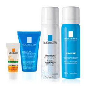 La Roche Posay Facial Spray Set Buy 2 Get 2 Free (Serozinc 50ml + Thermal Water Spray 50ml Free! Anthelios Dry Touch Gel 3ml + E