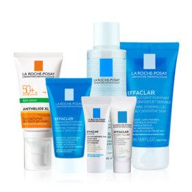 Sun Protection For Oily Skin Set Buy 2 Get 4 Free (Anthelios XL Dry Touch Gel Cream SPF 50+ 50ml + Effaclar Gel 50ml  Free! Effa