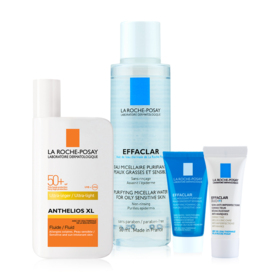 La Roche Posay Sun Protection Set For Mixed Skin Buy 1 Get 3 Free (Ultra-Light Fluid SPF50+/ PPD42  PA++++ 50ml + Micellar For O