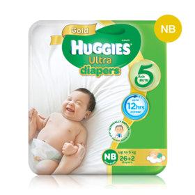Huggies Ultra Gold Tape 26+2pcs #Newborn