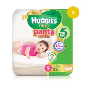 Huggies Ultra Gold Pant 22pcs #S (Girl)