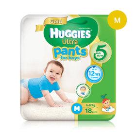 Huggies Ultra Gold Pant 18pcs #M (Boy)
