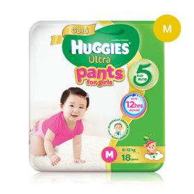 Huggies Ultra Gold Pant 18pcs #M (Girl)