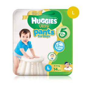 Huggies Ultra Gold Pant 14pcs #L (Boy)
