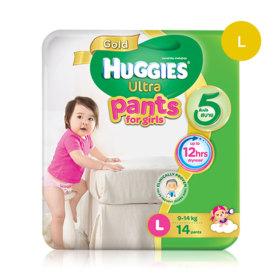 Huggies Ultra Gold Pant 14pcs #L (Girl)