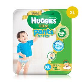 Huggies Ultra Gold Pant 12pcs #XL (Boy)