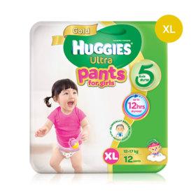Huggies Ultra Gold Pant 12pcs #XL (Girl)
