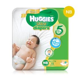 Huggies Ultra Gold Tape 72pcs #Newborn