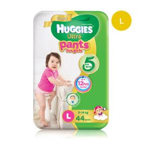 Huggies Ultra Gold Pant 44pcs #L (Girl)