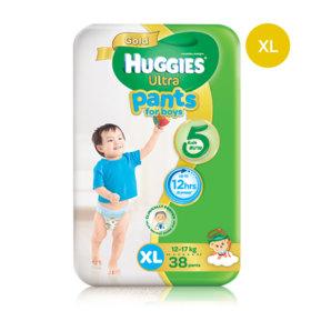 Huggies Ultra Gold Pant 38pcs #XL (Boy)