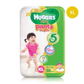 Huggies Ultra Gold Pant 38pcs #XL (Girl)