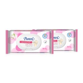 แพ็คคู่ Pureen Wet Wipe Sensitive (80sheets x 2pcs)