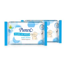 แพ็็คคู่ Pureen Wet Wipe Pure & Mild (30sheets x 2pcs)