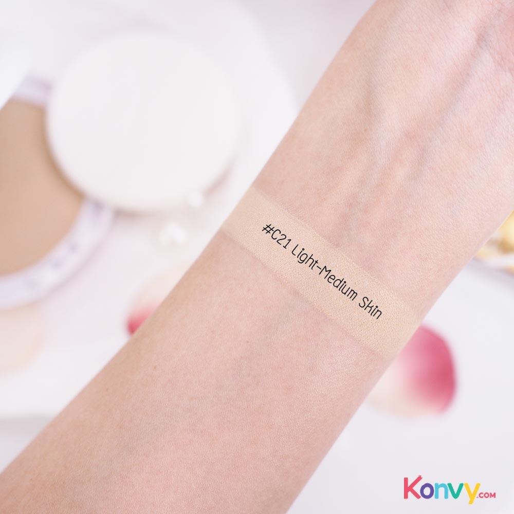 Chaonang เจ้านาง Perfect Bright 2 Way Powder Foundation 10g #C21 Light-Medium Skin_2