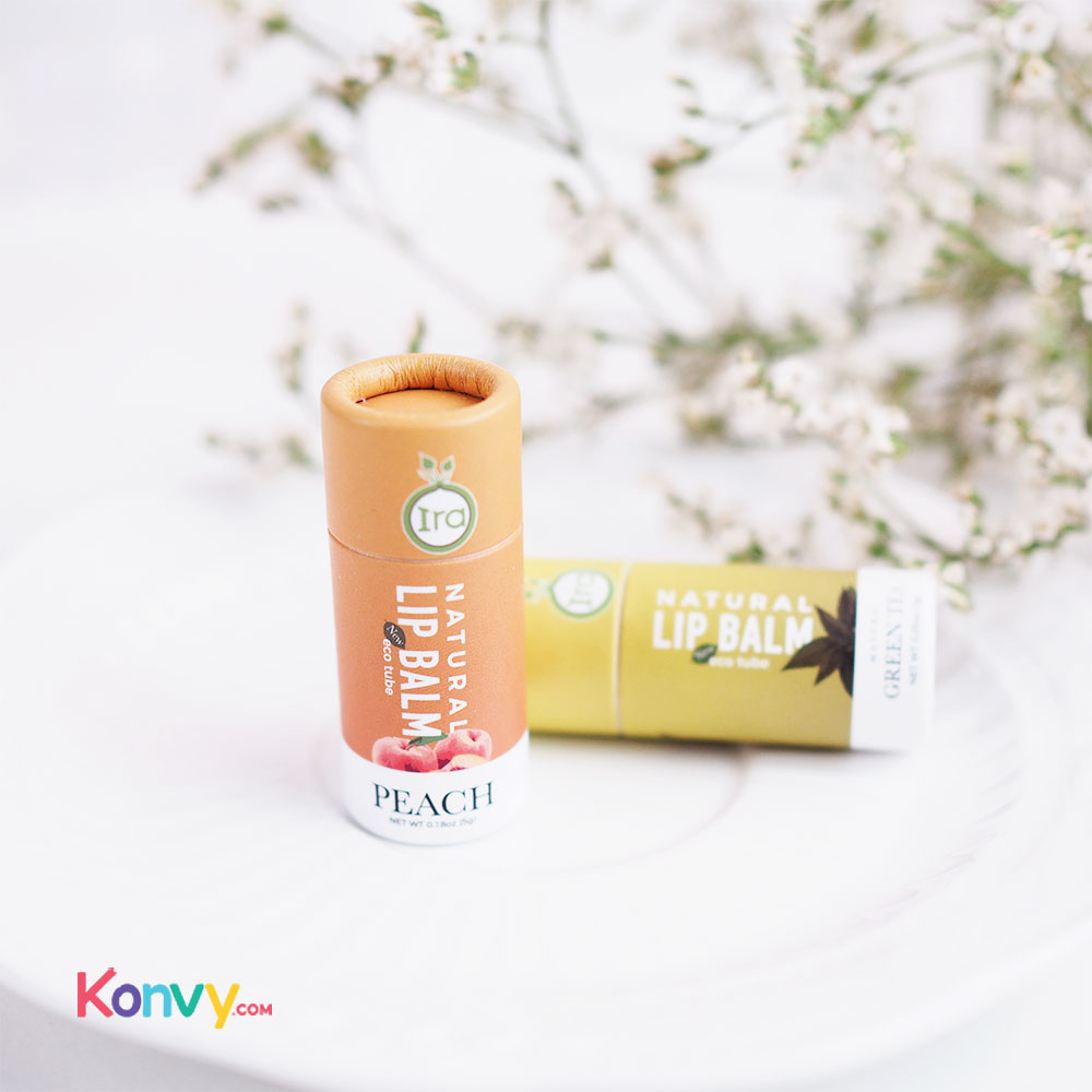 IRA eco tube Natural Lip Balm Set 2 Items (Peach 7g + Green 7g)_1