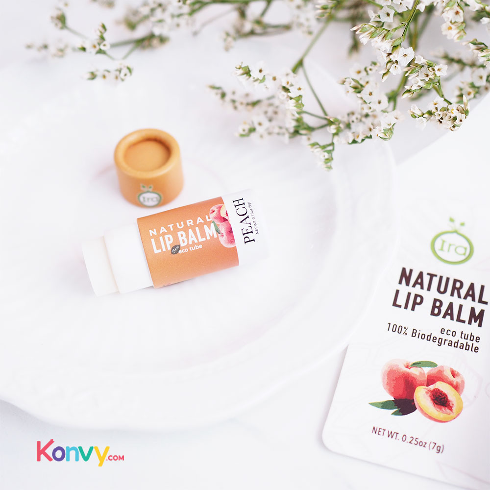 IRA eco tube Natural Lip Balm Set 2 Items (Peach 7g + Green 7g)_2
