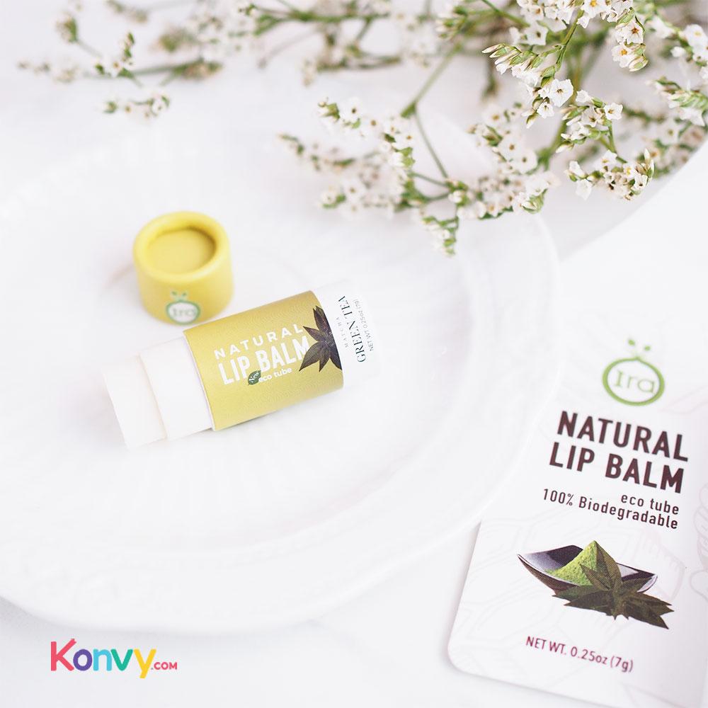IRA eco tube Natural Lip Balm Set 2 Items (Peach 7g + Green 7g)_3