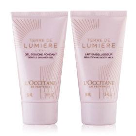 L'Occitane Terre De Lumiere L'eau Beautifying Body Milk + Gentle Shower Gel (50mlx2pcs)