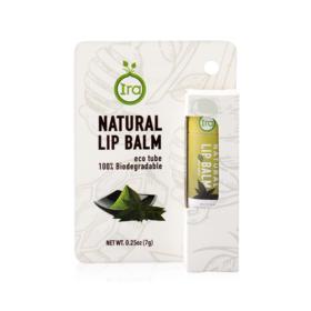IRA eco tube Natural Lip Balm Green Tea 7g