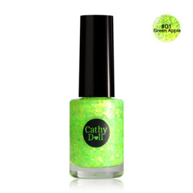Cathy Doll Nail Glitter 6ml (A) #01 Green Apple