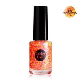 Cathy Doll Nail Glitter 6ml (A) #02 Summer Pretty